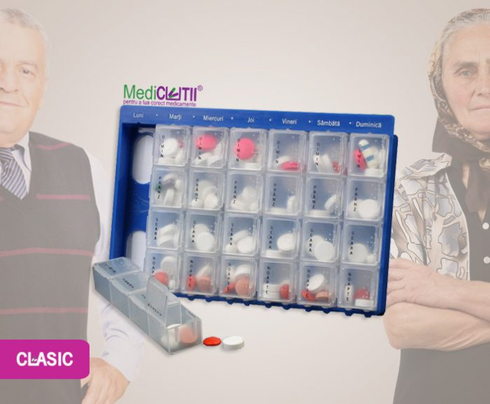 organizator de medicamente săptămânal CLASIC